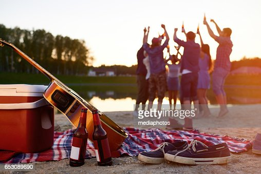 Beach party : Stockfoto