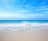 Clear beach and blue sky