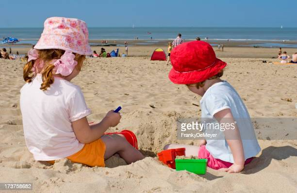 Beach pleasures for little girls with toys