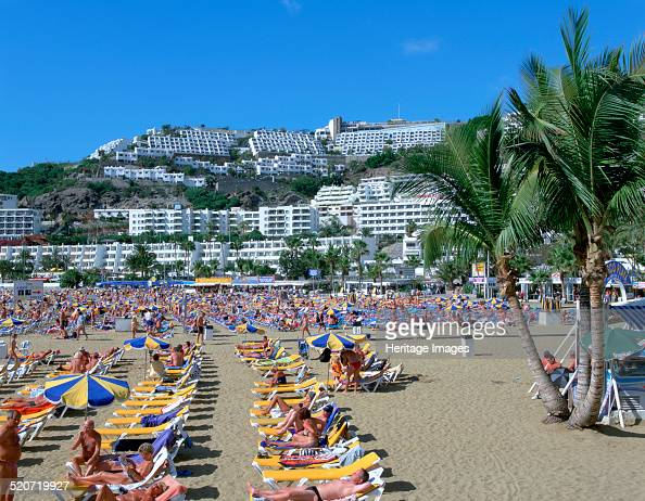 Beach Puerto Rico Gran Canaria Canary Islands