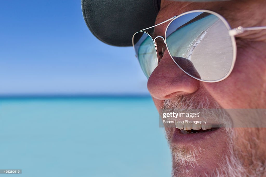 Beach Reflection In Sunglasses Summer Stock Photo | Getty ...