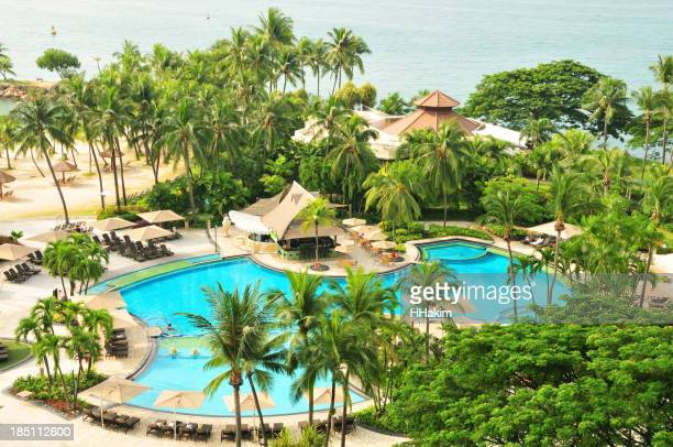 Beach Resort on Sentosa Island, Singapore
