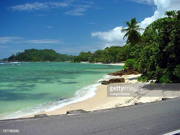 Beach road on Mahe - Seychelles