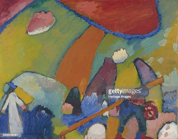 Beach scene 1909 Private Collection Artist Kandinsky Wassily Vasilyevich