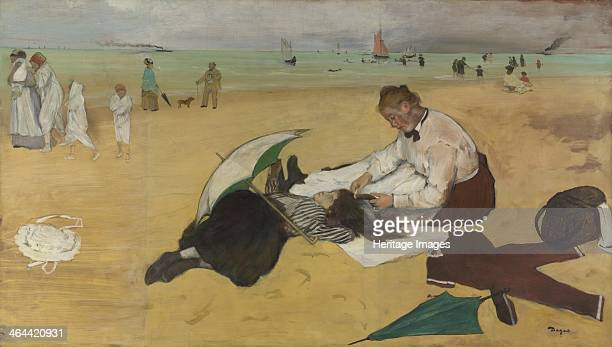 Beach Scene c 1869 Found in the collection of the National Gallery London