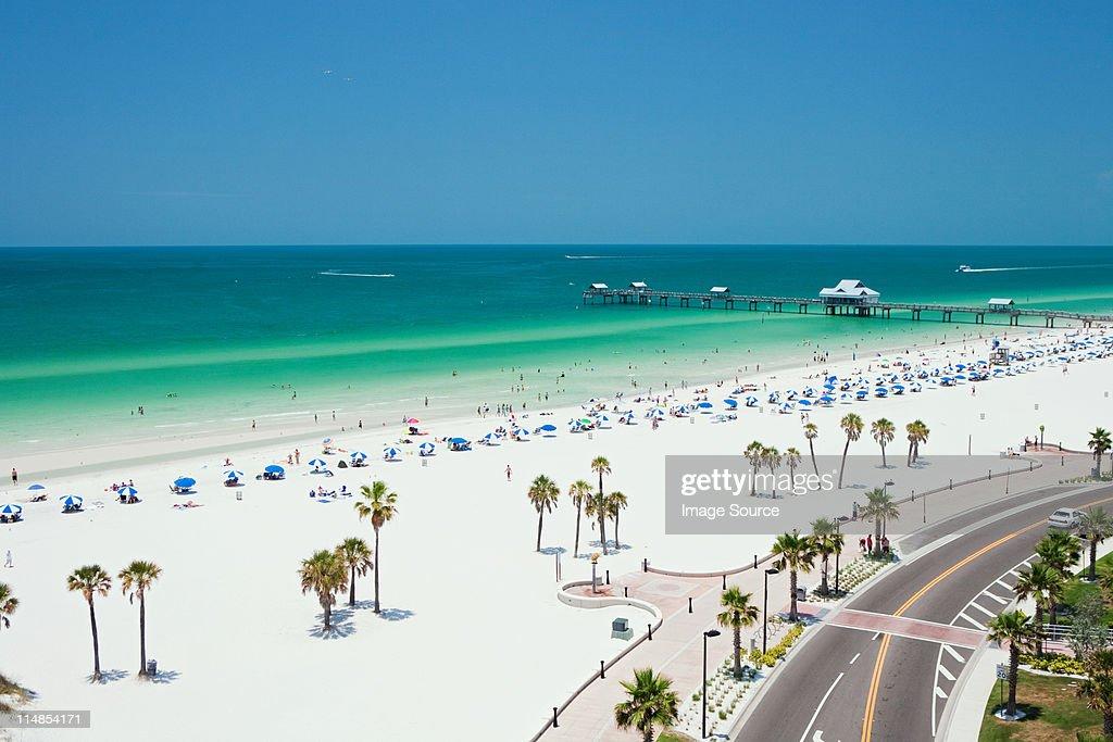 Beach scene, Clearwater, Florida : Stock Photo
