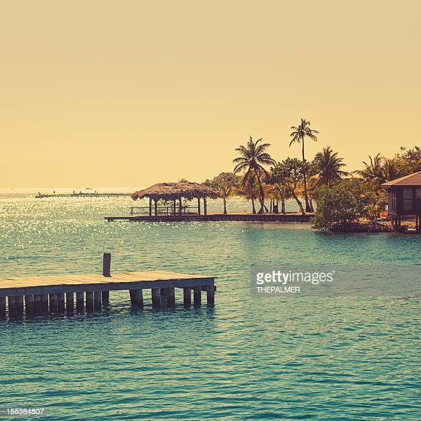 Scène de plage dans les Caraïbes