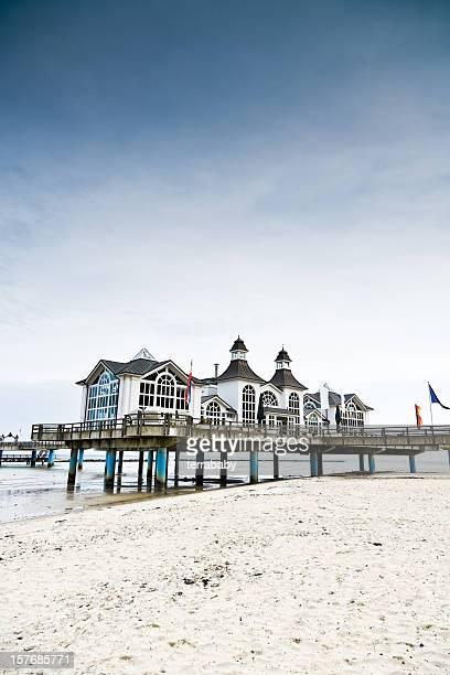 Strand von Sellin Seabridge Ruegen Insel