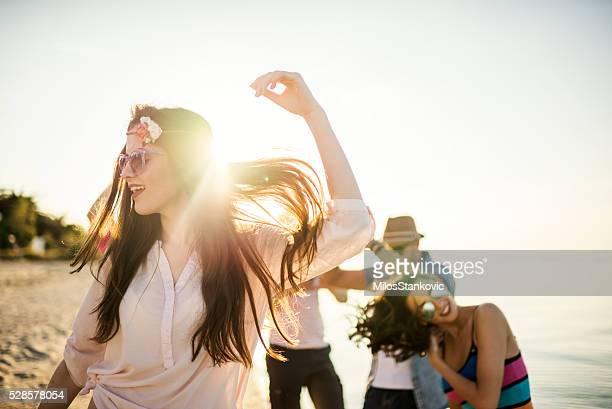 Beach summer dance