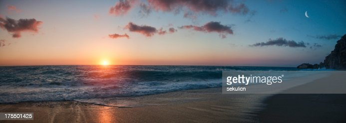 Beach Sunset - panorama