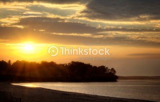 Beach  Sunset : Stock Photo