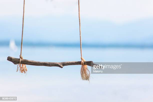 Beach Swing Or Rope Swing On A Beach