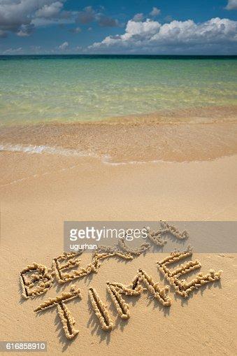 Beach time : Stock Photo