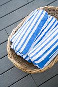 Beach towels in basket