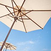 Beach Umbrella and Blue Sky