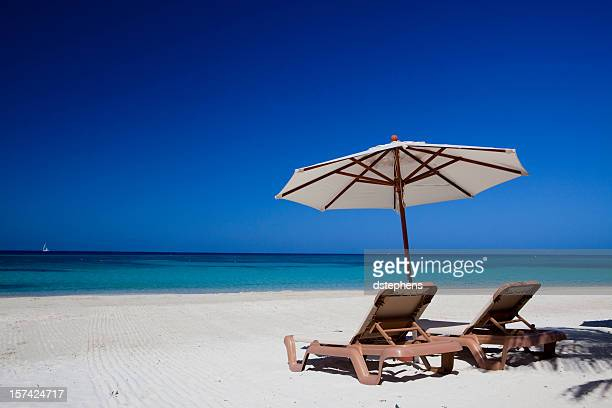 Beach Umbrella and chairs XXXL