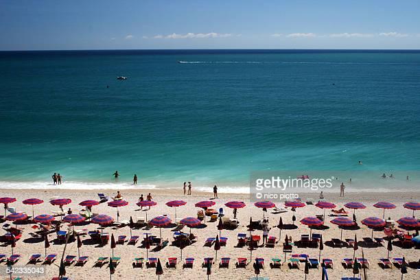 Beach umbrellas in Sirolo