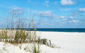 A view of the beach on the Alabama Gulf coast.