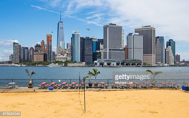 Beach View from Governors Island - New York