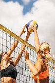 Beach Volleyball Girls On The Net