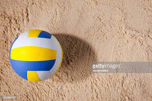Beach Volleyball On Sand With Copy Space