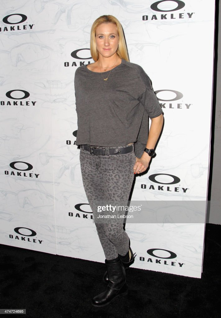 Beach Volleyball player Kerri Walsh celebrates the past, present and future of Oakley's design and technology at the brand's 'Disruptive by Design' global campaign launch event at RED Studios on February 24, 2014 in Los Angeles, California.