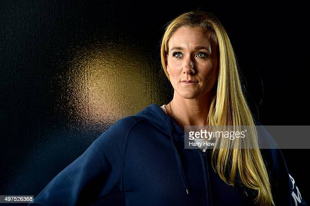 Beach volleyball player Kerri Walsh Jennings poses for a portrait at the USOC Rio Olympics Shoot at Quixote Studios on November 17 2015 in Los...