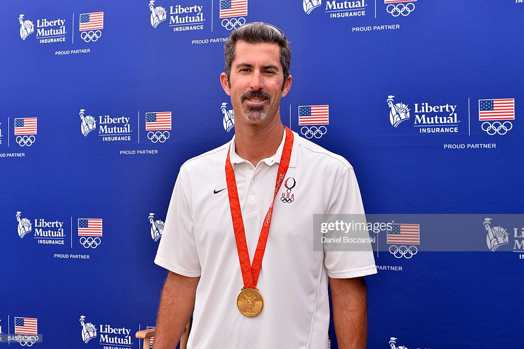 Beach volleyball player Todd Rogers attends Team USA Road to Rio at the Taste of Chicago at Grant Park on July 8, 2016 in Chicago, Illinois.