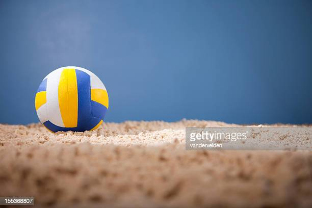Beach Volleyball With Copy Space