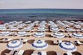 Beach with beach umbrella