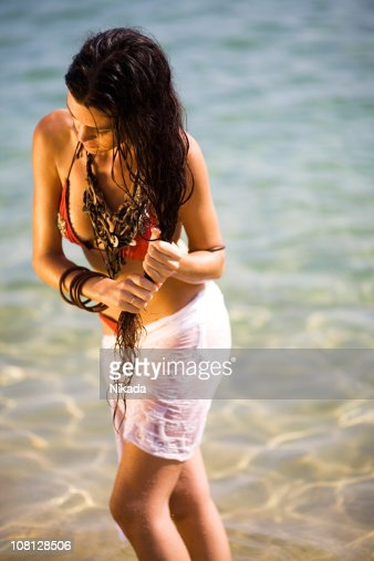 Beach Woman : Stock Photo