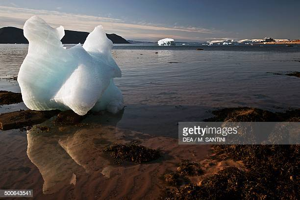 Beached iceberg near Siorapaluk on the Nares Strait Greenland Denmark