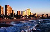 Beachfront at sunrise.