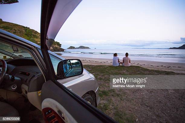 Beachfront car camping in Matauri Bay.