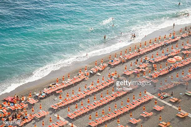 Beachfront in Positano, on the Golfo di Salerno.