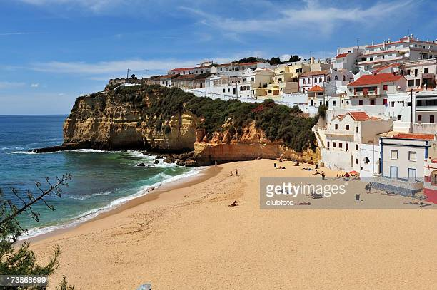 Beachside view of Carvoeiro in the Algave region of Portugal
