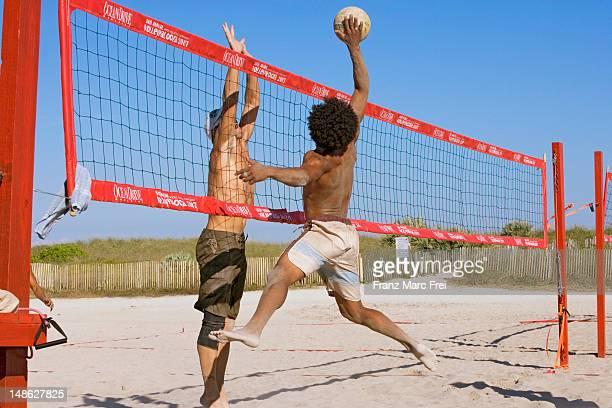 Beachvolley game on South Beach.