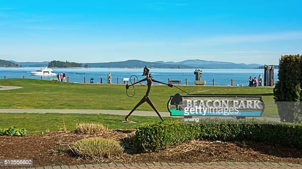 Leuchtfeuer Park und Wasser in Sidney, Britische Columbia