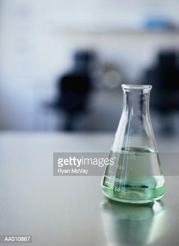 Beaker Filled with Green Liquid