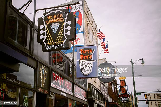 Beale street in downtown Memphis