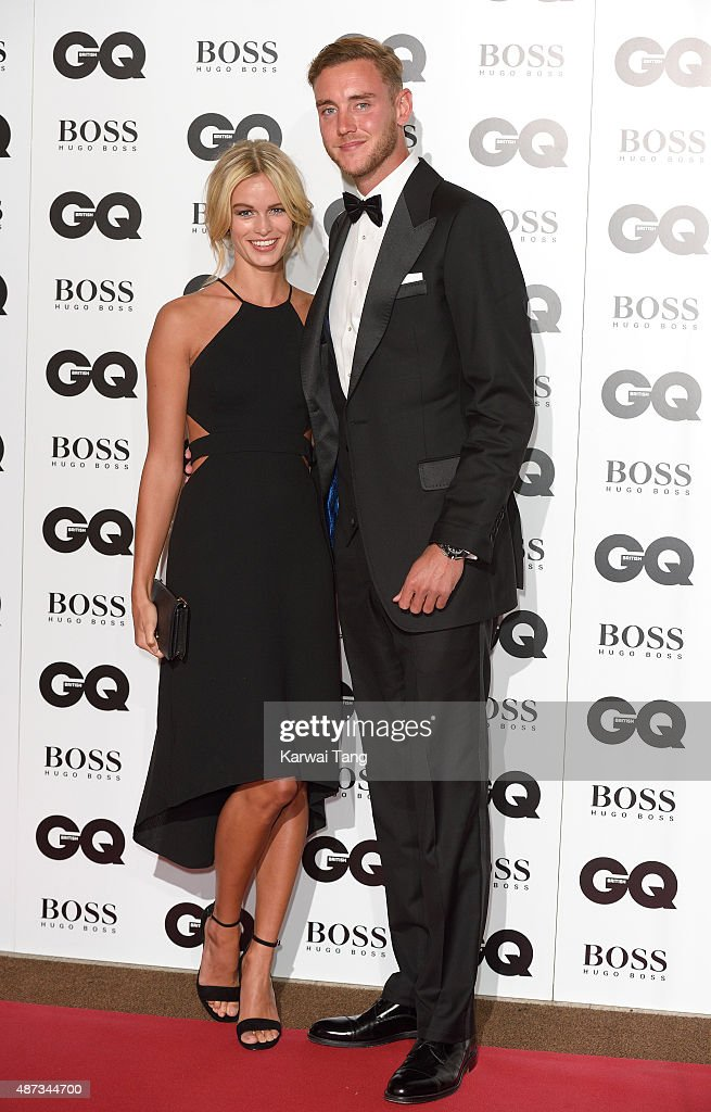 Bealey Mitchell and Stuart Broad attend the GQ Men Of The Year Awards at The Royal Opera House on September 8, 2015 in London, England.