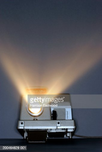 Beams of light from slide projector