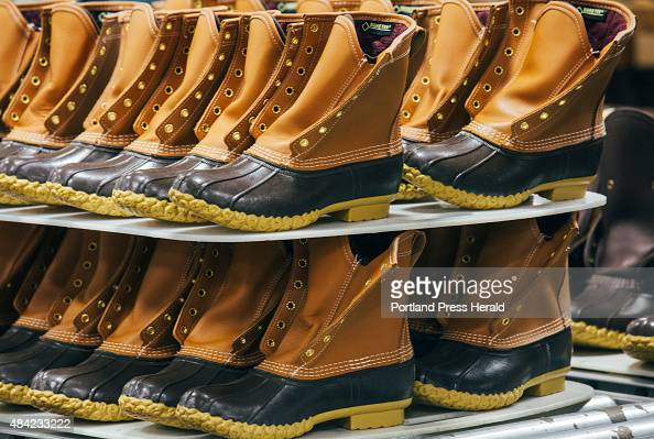 L Bean boots after their rubber soles were topstitched to the leather in Brunswick ME on Friday July 31 2015