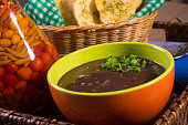 Beans soup with toasts