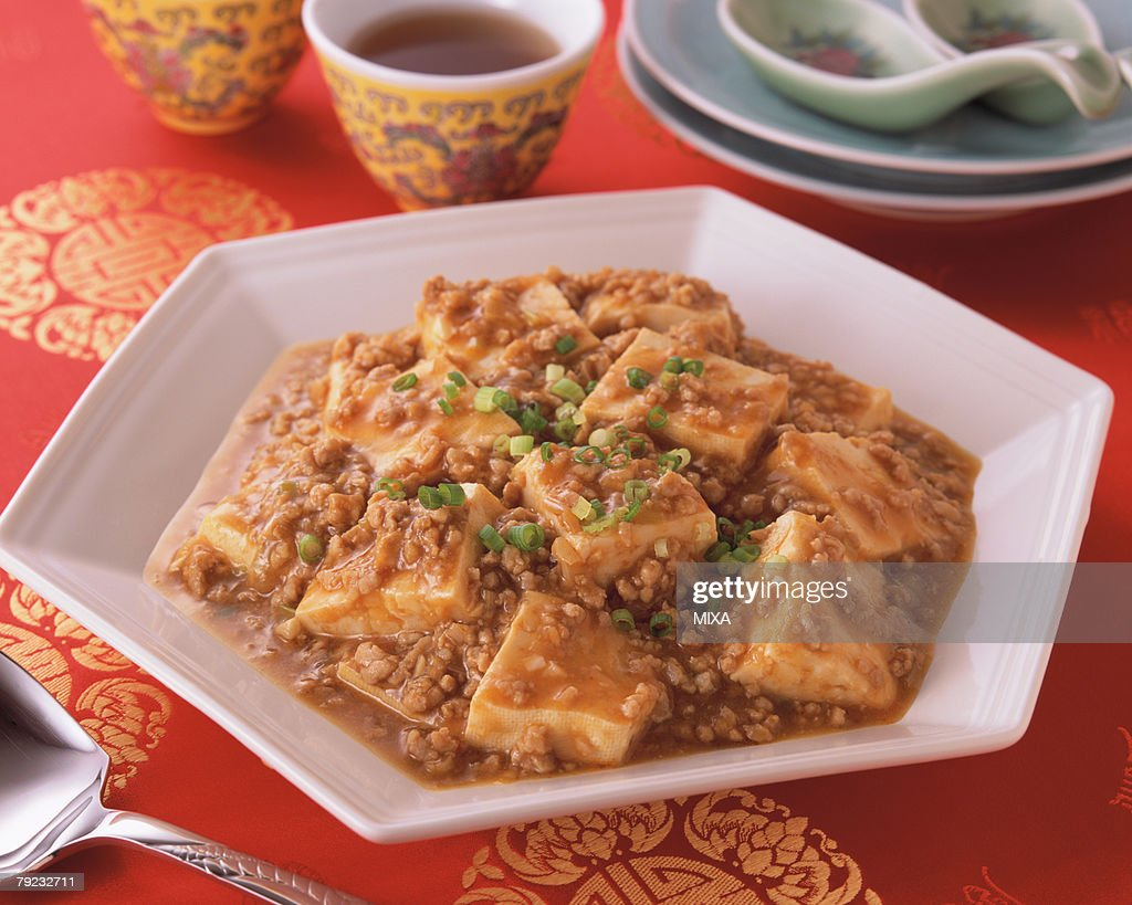 Bean Curd Szechuan Style : Stock Photo