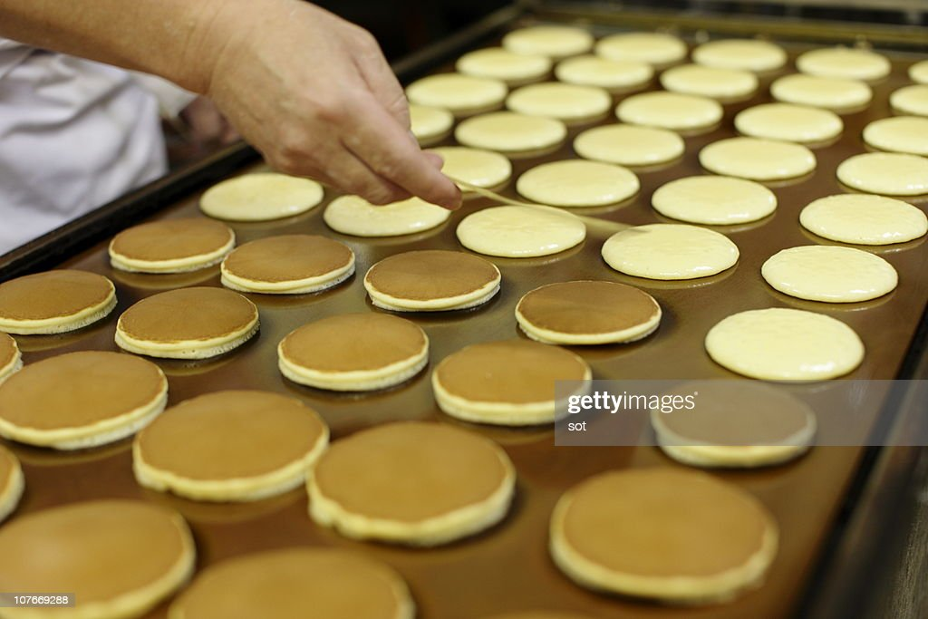 Bean jam pancake,Dorayaki,Japanese sweets : Stock Photo