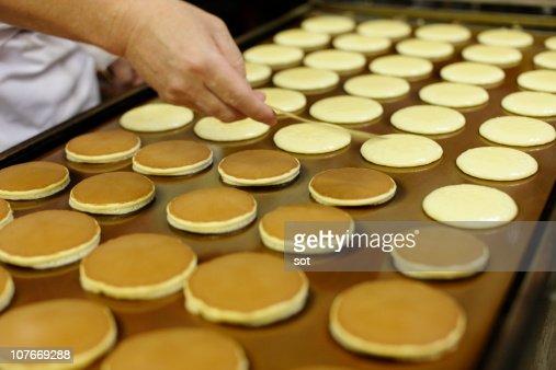 Bean jam pancake,Dorayaki,Japanese sweets : Stock Photo