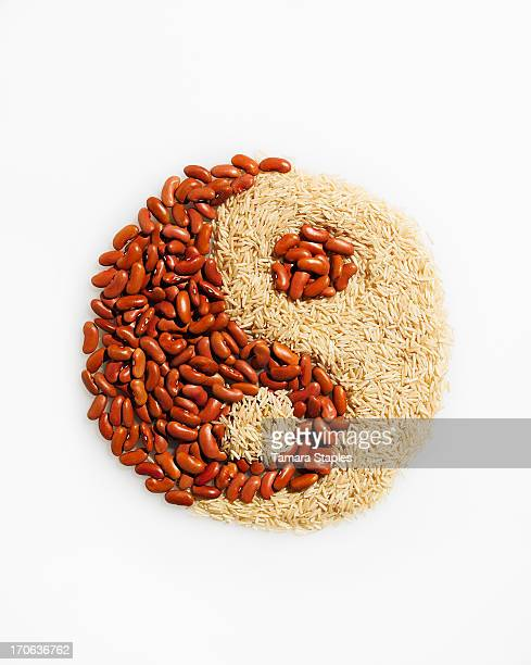 Beans and Rice in the shape of Yin/Yang