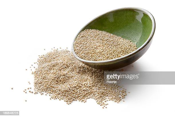 Beans, Lentils, Peas and Grains: Quinoa Isolated on White Background