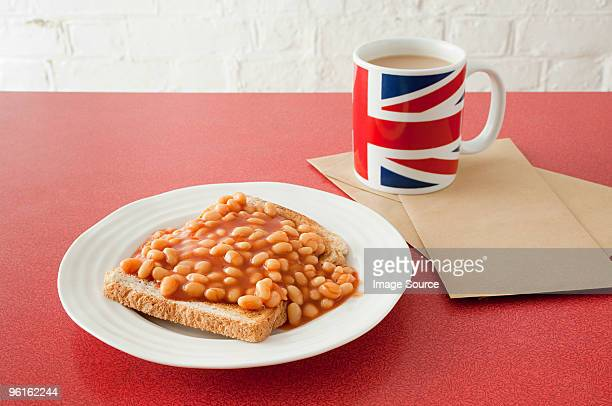 Beans on toast and tea